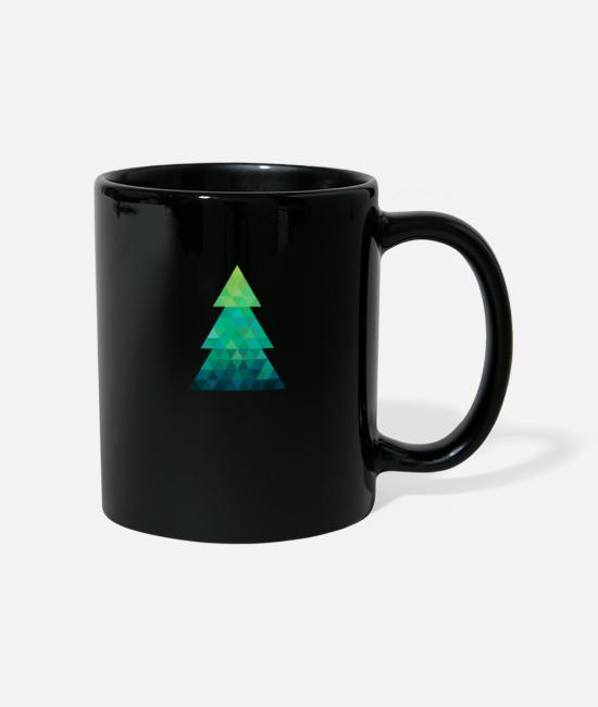 Christmas Mugs & Drinkware - Modern style Christmas tree XMAS - Mug black