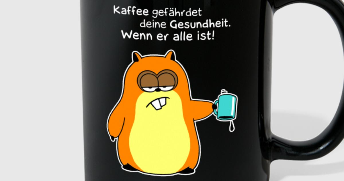 hamster kaffee gefahr whiteline von bartzillus spreadshirt. Black Bedroom Furniture Sets. Home Design Ideas