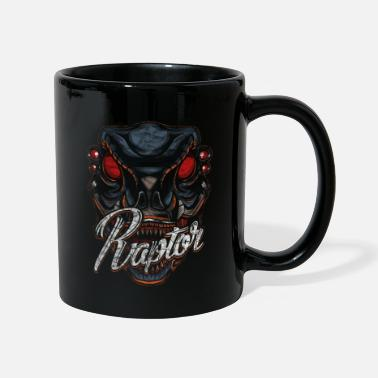 Scifi Cyborg Raptor Dinosaur Scifi - Full Colour Mug
