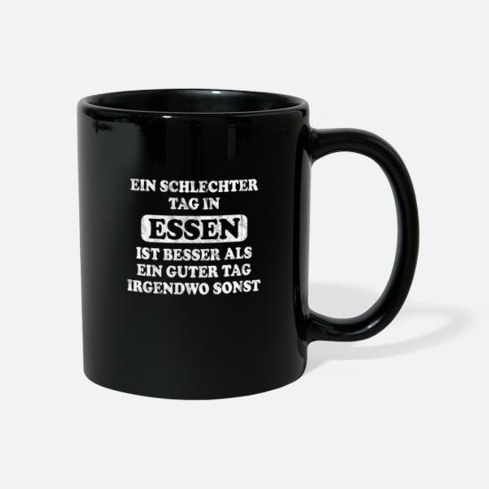 Cultural Capital Mugs & Drinkware - Eat my city! Funny design for Essener - Mug black