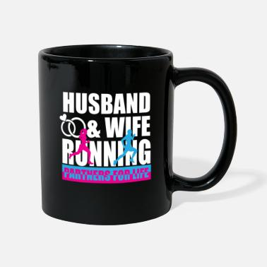 Married Couple Married couple running a marathon - Full Colour Mug