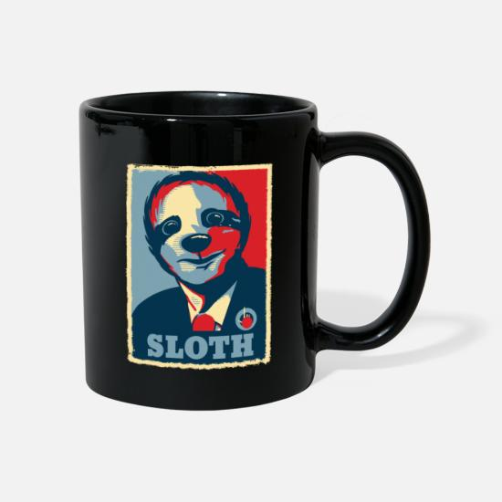 Obama Krus & tilbehør - Sloth Retro President Obama Gift - Krus sort