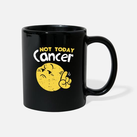 Chemo Mugs & Drinkware - Not today cancer fighter survived chemo gift - Mug black