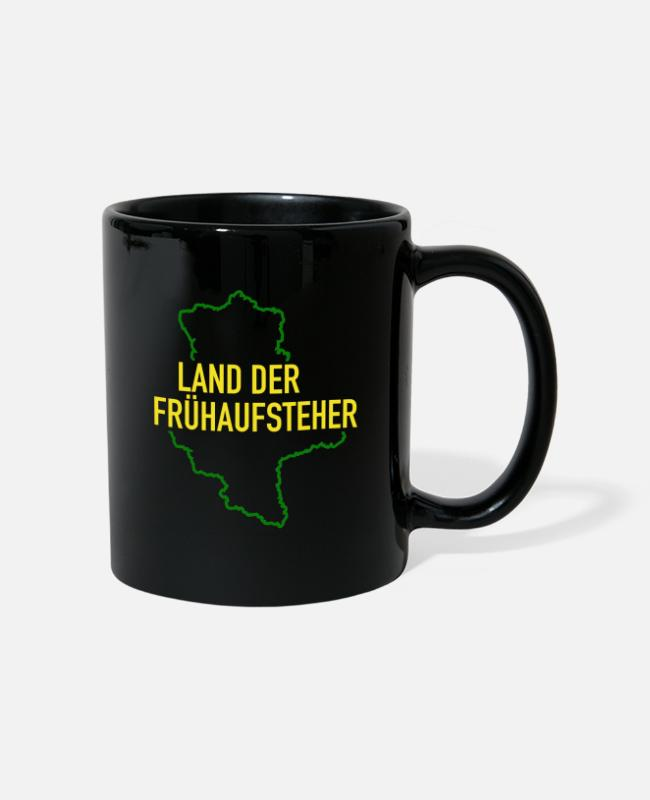 Ore Mountains Mugs & Drinkware - Land of the early risers Saxony-Anhalt Ossi Osten - Mug black