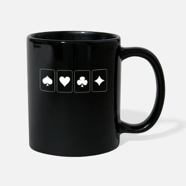 Karos Ace of Hearts Check Pik Poker - Mug