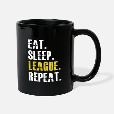 League Game Eat Sleep League Repeat - Mug