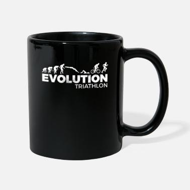 Cycliste Drôle Evolution Triathlon Triathlete Caveman - Mug uni
