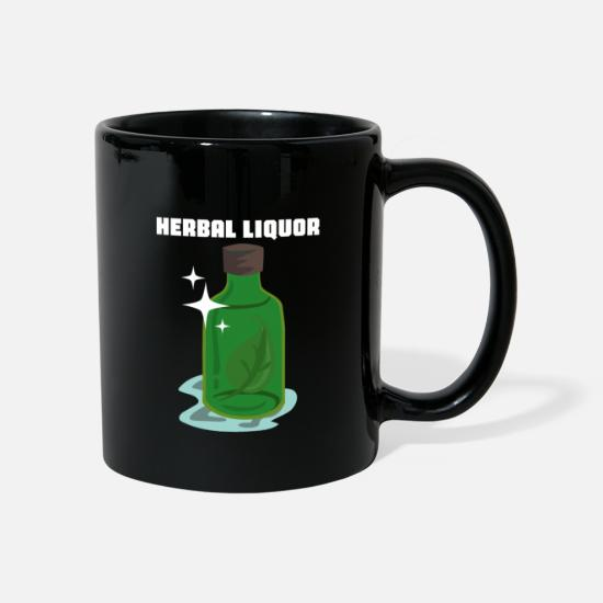 Alcohol Mugs & Drinkware - Herbal liquor medicine wein - Mug black