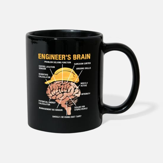 Ingeniør Krus & tilbehør - Ingeniør Brain Mechanical Engineering Electrical Engineering - Krus sort