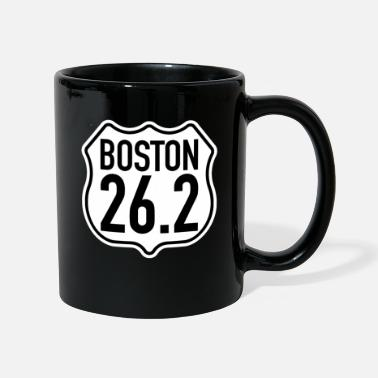 Boston Marathon Boston 26.2 Miles | Marathon marathon runners running - Full Colour Mug