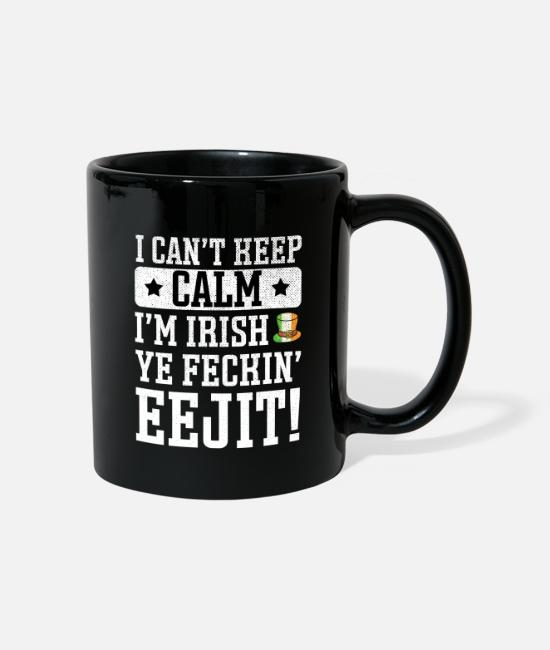St Patricks Day Mugs & Drinkware - St Patrick's Day Irish Ireland Drunk Beer Paddy - Mug black
