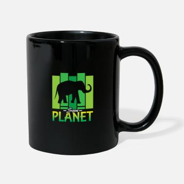 Planeetta Tallenna Planet Elephant Animal | Cool Safari Mammal - Yksivärinen muki