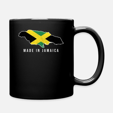 City Jamaica Made in Tshirt Born with Country Soccer Fla - Mug