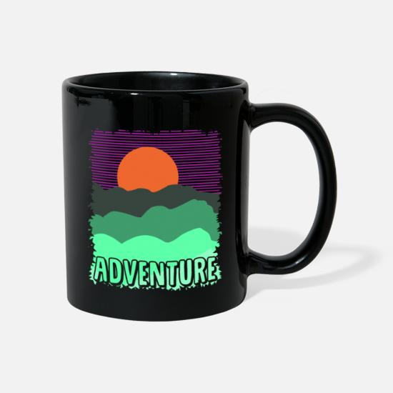 Tent Mugs & Drinkware - Adventure wilderness - Mug black