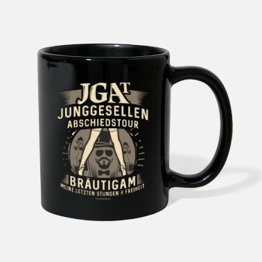 JGA Shirt Hipster Bräutigam - Bier Freiheit Party - Tasse
