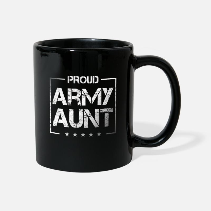 Gift Idea Mugs & Drinkware - Aunt uncle brother sister family mother son - Mug black