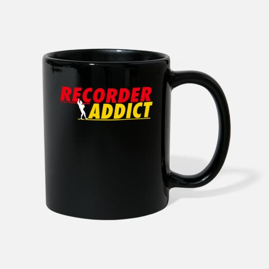 Hobby Cook Mugs & Drinkware - Recorder Addict - Mug black
