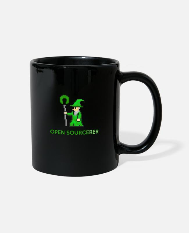 Coder Mugs & Drinkware - Open sourcerer developer t-shirt - Mug black