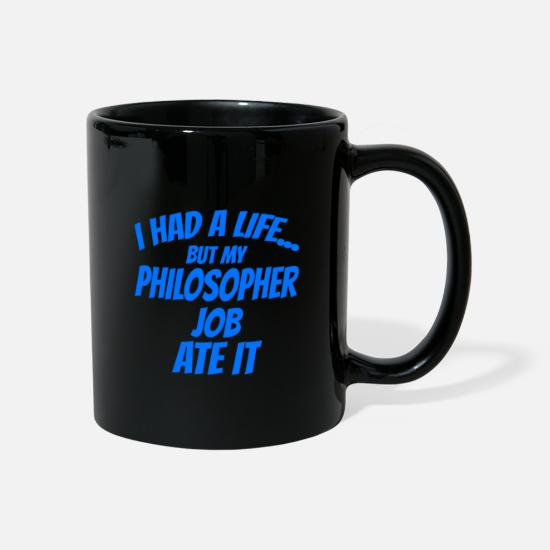 Think Mugs & Drinkware - Philosopher work - Mug black