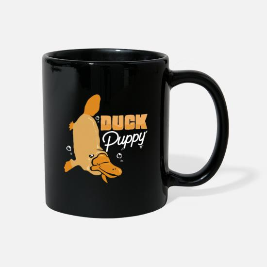 Toxic Mugs & Drinkware - Platypus beak Australia backpacker duck - Mug black