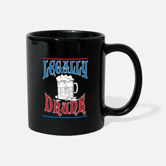 Birthday Mugs & Drinkware - Legal drunk adult alcohol gift - Mug black