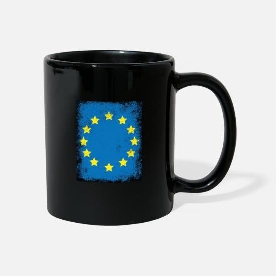 Union Mugs & Drinkware - European Union European Union EU flag vintage - Mug black