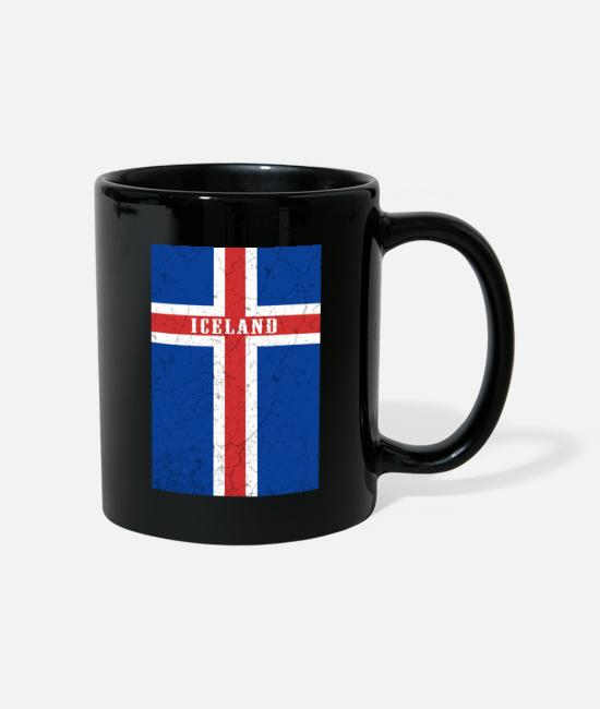 Norway Mugs & Drinkware - Iceland flag flag - Mug black
