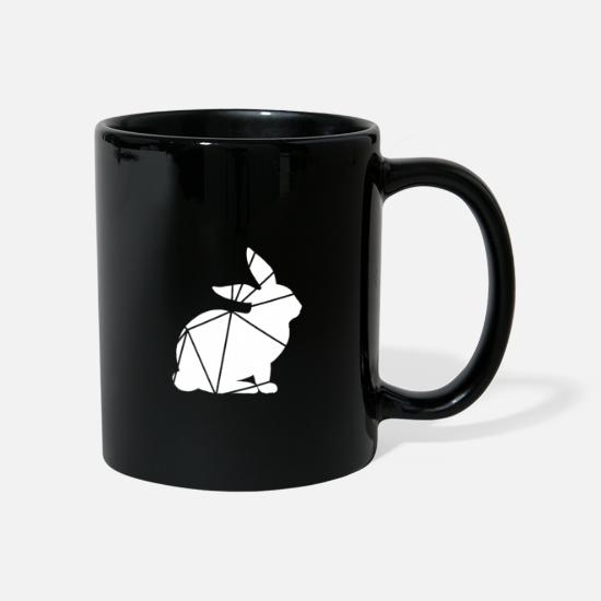 Animal Rights Activists Mugs & Drinkware - Geometric rabbit - Mug black