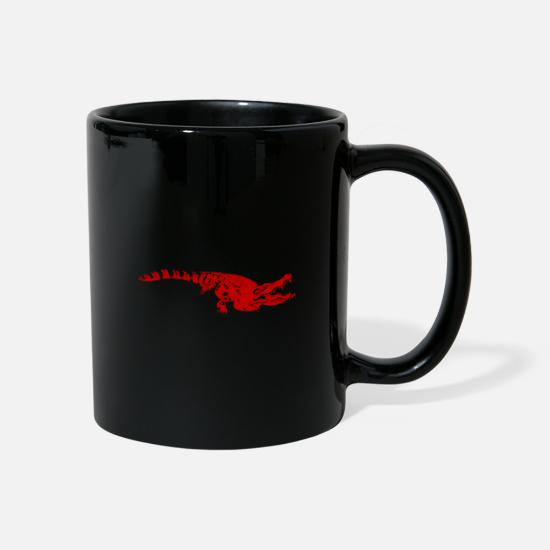 Birthday Mugs & Drinkware - Rotes Krokodil Tier Geschenkidee - Mug black