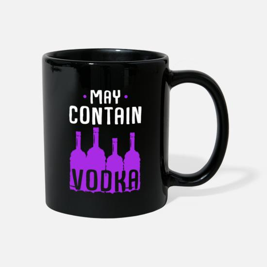 Birthday Mugs & Drinkware - vodka - Mug black