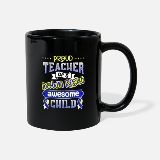 Teaching Mugs & Drinkware - Down Syndrome Awareness Teacher Special Education - Mug black