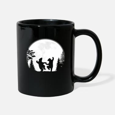 Night The bear and the full moon - Mug
