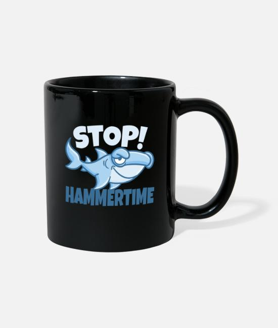 Pond Mugs & Drinkware - Shark Hammertime fun design. - Mug black