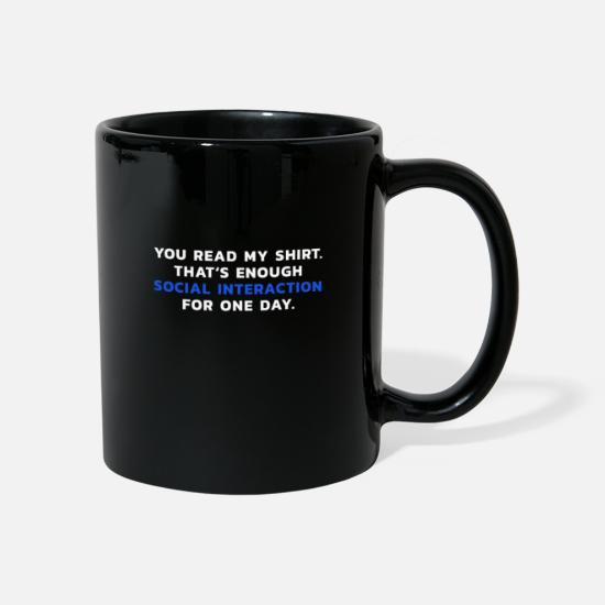 Gift Idea Mugs & Drinkware - Introvert gift idea - Mug black