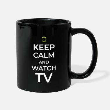 Tv TV TV TV tittar på TV - Mugg