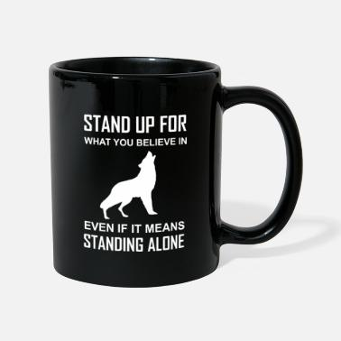 Native American Wisdom Indian, native american, stand up, wolf - Mug
