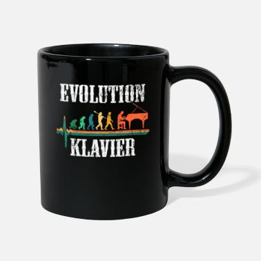 Klaver Evolution klaverorkester hjerteslag gave - Krus