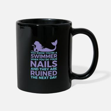 Swimmers nails ruined fun design. - Mug