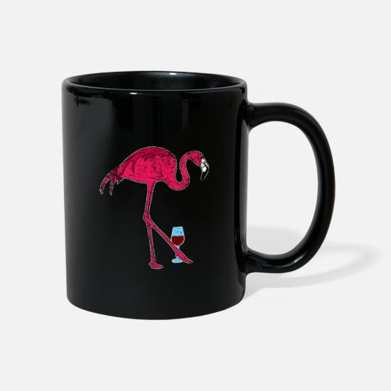 Animali Tazze & Accessori - Vino Flamingo - Tazza nero