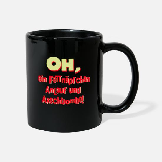 Gift Idea Mugs & Drinkware - Oh a fuzzy startup and ass bomb spell - Mug black