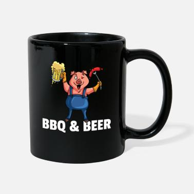 Dads BBQ Barbeque Barbecue Grill Master Pig - Mug