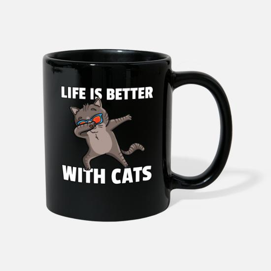 Love Mugs & Drinkware - Dabbing Cat Lover Dance Funny - Mug black