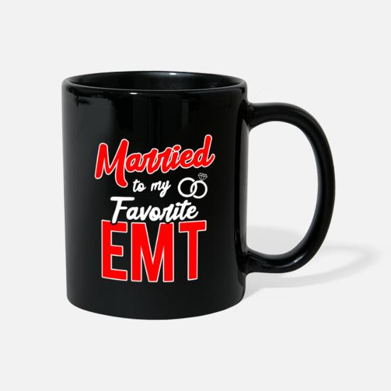 Love Mugs & Drinkware - Married To My Favorite EMT Gift - Mug black