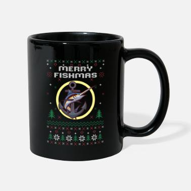 Angeln merry fishmas - ugly Christmas sweater - Tasse