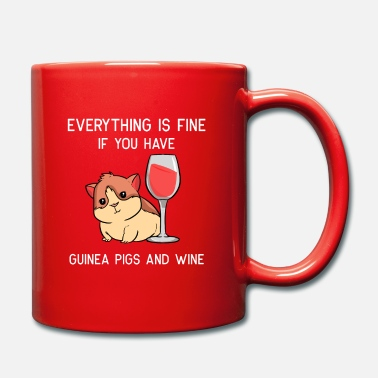 Guinea cavy wine guiena pig red wine lover alcohol gift - Tasse