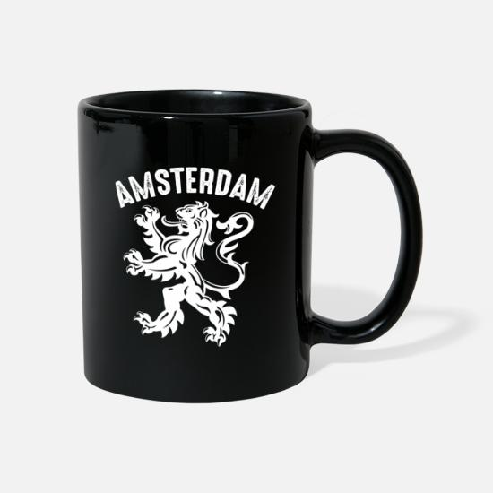 National Team Mugs & Drinkware - Amsterdam City Netherlands Soccer Souvenir Holland - Mug black