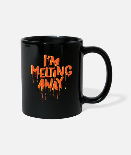 Heart Mugs & Drinkware - I am melting away Romantic melting - Mug black