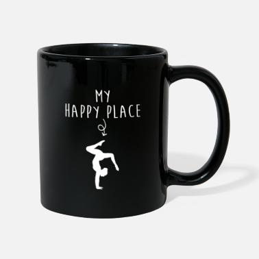 Teens My Happy Place Gymnastics Gift Ideas Gymnast Gifts - Tasse