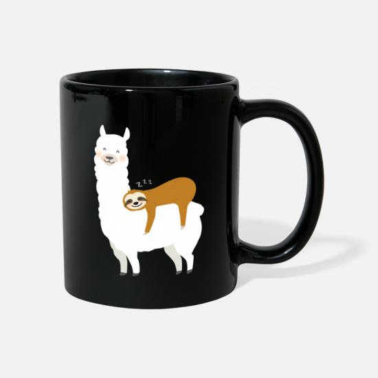 Bed Mugs & Drinkware - Sloth and alpaca - Mug black