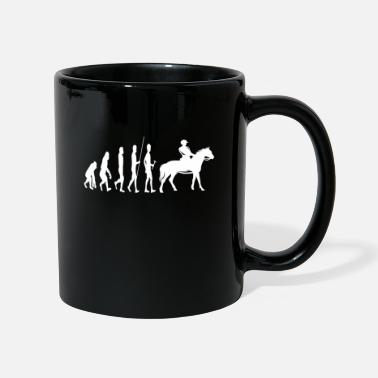 Ponytail Evolution of riding horses rider saying - Mug